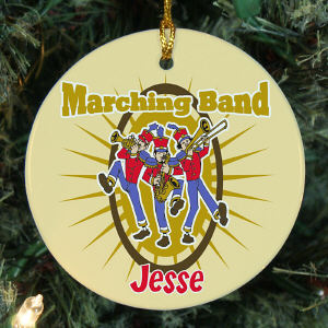 Personalized Ceramic Marching Band Ornament