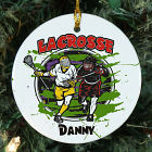 Personalized Ceramic Lacrosse Ornament