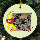 Personalized Ceramic Military Photo Ornament