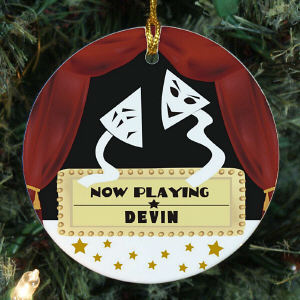 Personalized Ceramic Drama Mask Ornament