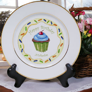 Personalized Ceramic Birthday Boy Plate