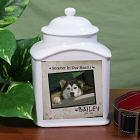 Personalized Ceramic Dog Photo Urn