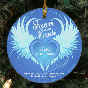 In Our Hearts Ceramic Ornament