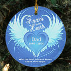 Personalized Ceramic Forever In Our Hearts Memorial Ornament