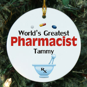Personalized Ceramic Pharmacist Ornament