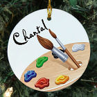 Personalized Ceramic Artist Ornament
