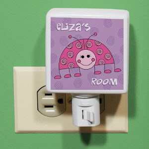 Personalized Lady Bug Night Light