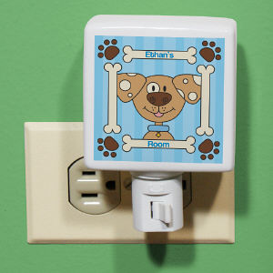 Personalized Puppy Night Light