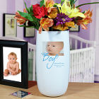 Personalized It's A Boy Photo Ceramic Vase