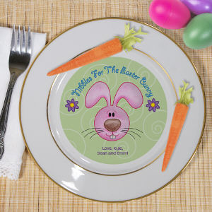Personalized Easter Bunny Keepsake Plate