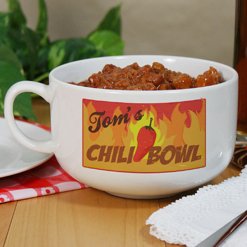 Personalized Ceramic Chili Bowl U429523