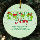 Personalized Ceramic Aunt Ornament