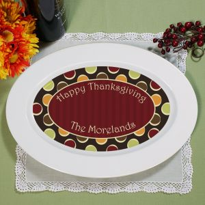 Personalized Fall Serving Platter