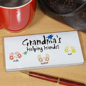 Helping Hands Personalized Checkbook Cover