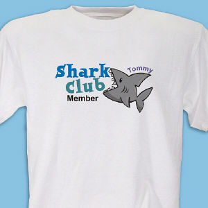 Shark Club Member Personalized Youth T-Shirt