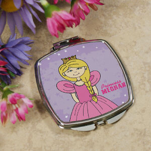 Personalized Princess Compact Mirror