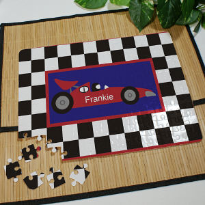 Personalized Race Car Jigsaw Puzzle