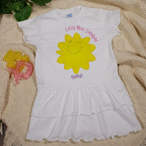 Little Miss Sunshine Infant/Toddler Romper Dress