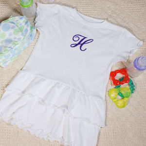 Name or Initial Infant/Toddler Romper Dress
