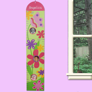 Custom Printed Flower Growth Chart | Personalized Growth Charts