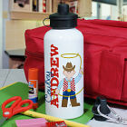 Personalized Cowboy Water Bottle
