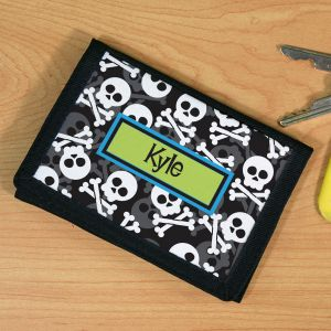 Personalized Skulls Velcro Wallet