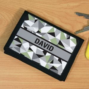 Personalized Jagged Squares Wallet U68161