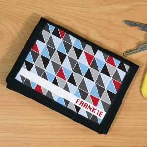 Personalized Abstract Triangles Wallet