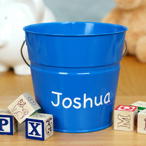 Personalized Blue Bucket