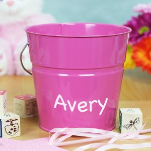 Personalized Pink Bucket