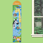 Personalized Zoo Children's Growth Chart G00702SJ