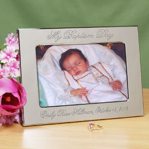 Personalized My Christening Day Silver Picture Frame