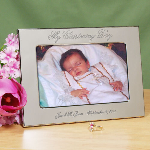 Personalized My Christening Day Silver Picture Frame | Customized Baby Gifts