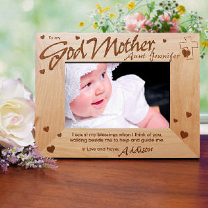 Personalized Godparent Wood Picture Frame
