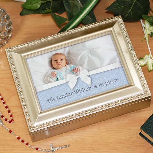 Personalized Photo Baptism Music Box MB17520S