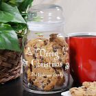 Personalized Christmas Cookie Jar