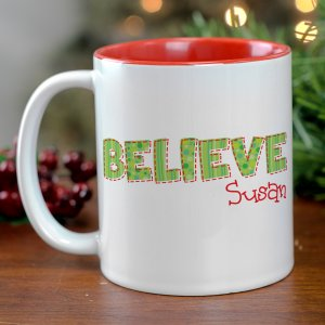 Believe Christmas Personalized Mug