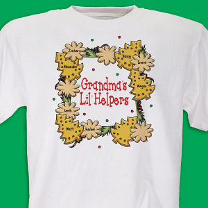 Lil' Christmas Helpers Personalized Christmas T-shirt