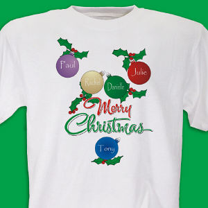 Personalized Merry Christmas T-shirt
