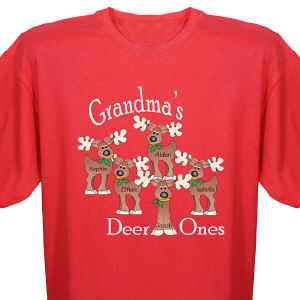 Personalized Reindeer T-Shirt