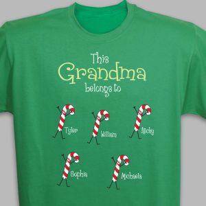 Personalized Candy Cane T-Shirt
