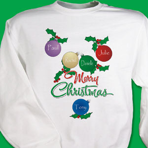 Personalized Merry Christmas Sweatshirt