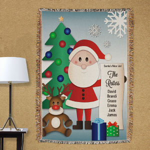 Personalized Santa's List Tapestry