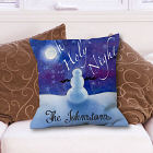 Personalized Oh Holy Night Throw Pillow
