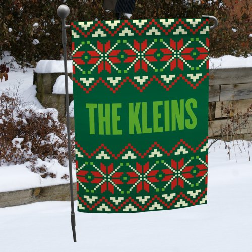 Christmas Sweater Garden Flag