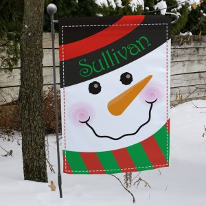 Snowman Welcome Garden Flag