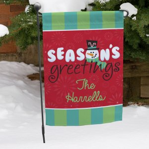 Personalized Winter Garden Flag