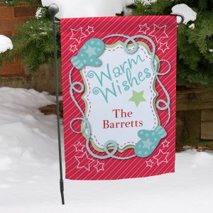 Personalized Holiday Wishes Garden Flag
