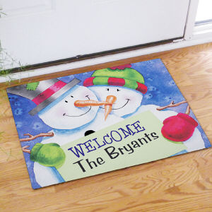 Personalized Snow Couple Doormat