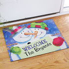 Personalized Snow Couple Welcome Doormat